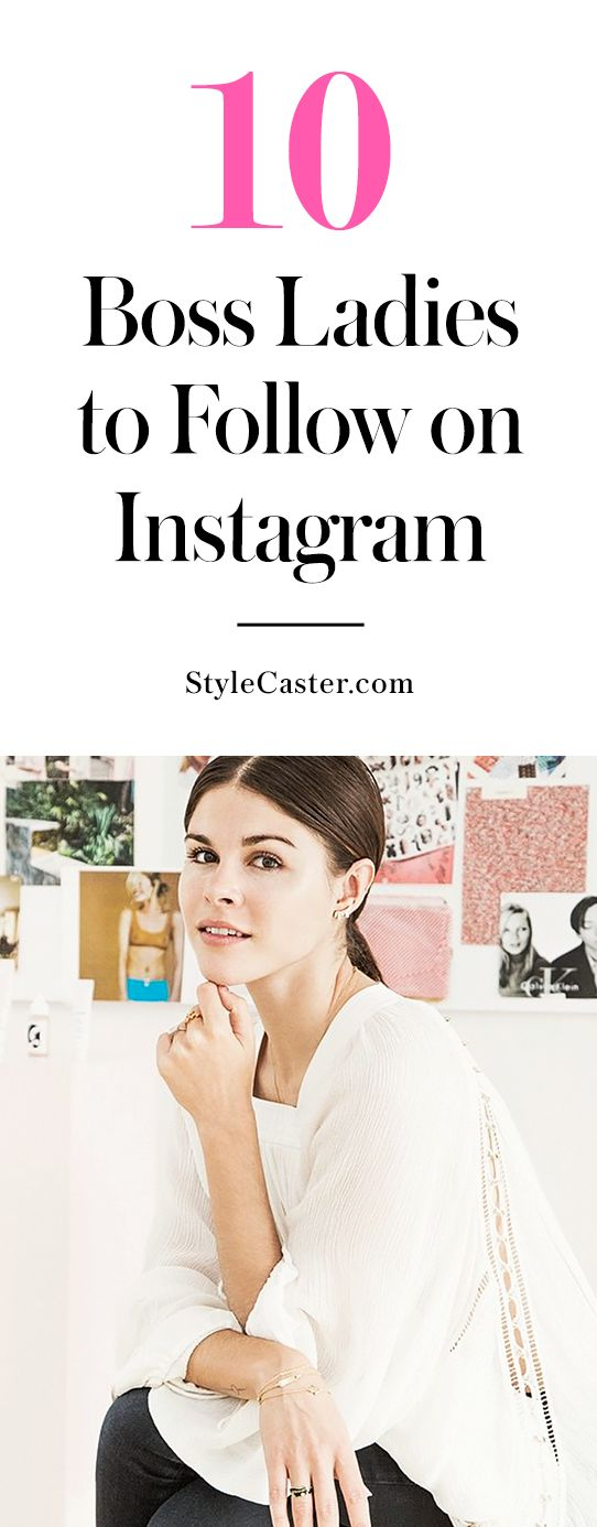 CAREER | 10 badass boss babes you need to follow on Instagram ASAP - From Sophia Amoruso being a #GirlBoss in fashion to Ava DuVernay changing the film industry one movie at a time. @stylecaster