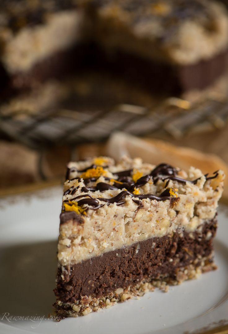 Dessert Recipe: Orange Chocolate Hazelnut Torte w/ Date Caramel #vegan #healthy #plantbased #whatveganseat #recipes #glutenfree #rawfood #dessert