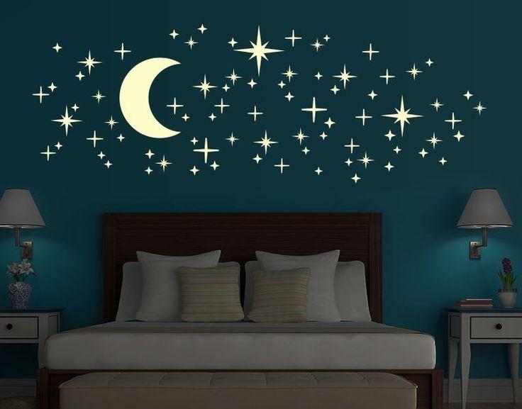 leucht wandtattoo set romantischer sternenhimmel - Wohnideen Fr Schlafzimmer Mit Wandtattoo