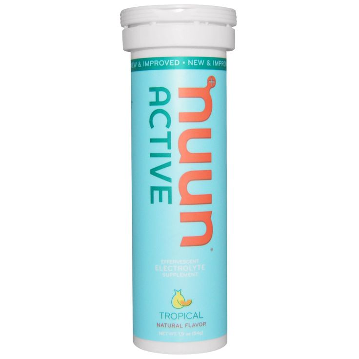 Nuun Hydration, Active, Effervescent Electrolyte Supplement, Tropical, 10 Tablets, 1.9 oz (54 g)