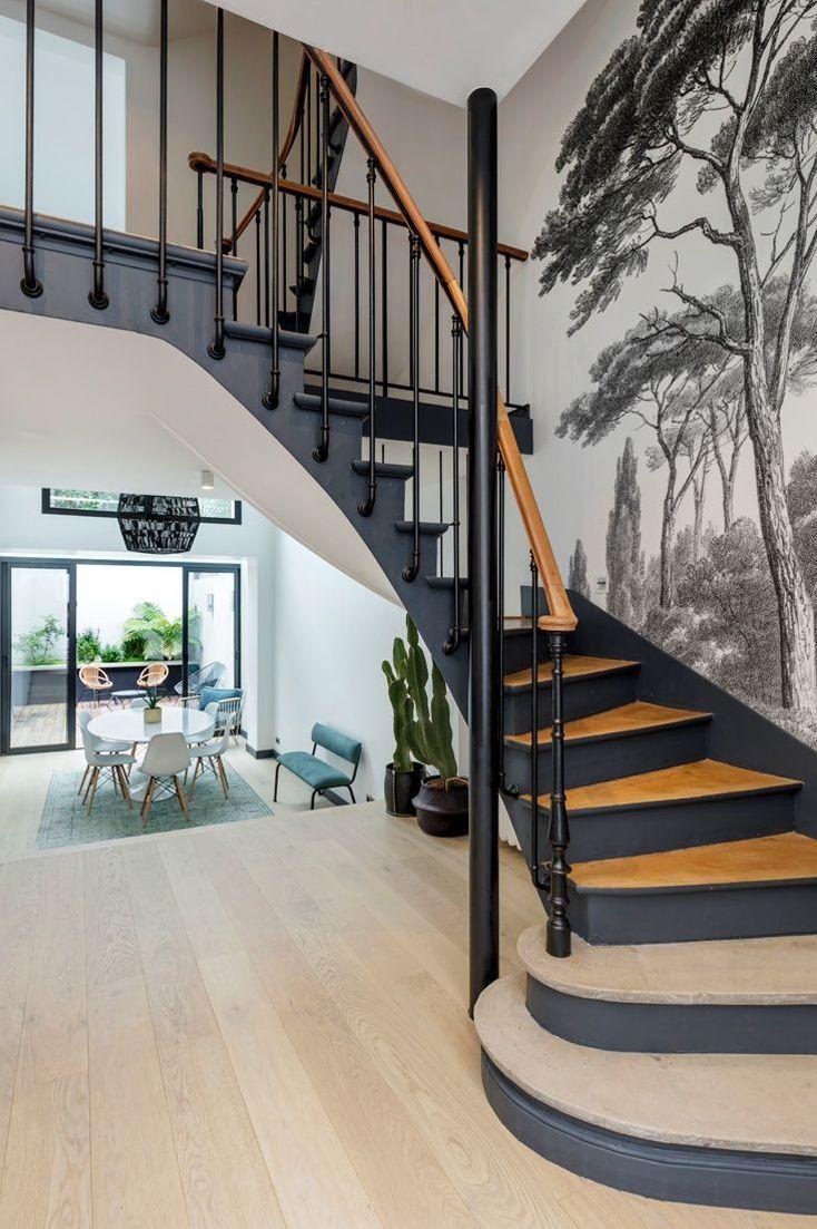 Modele D Escalier Peint maison boulogne billancourt : rénovation 250 m2 avec