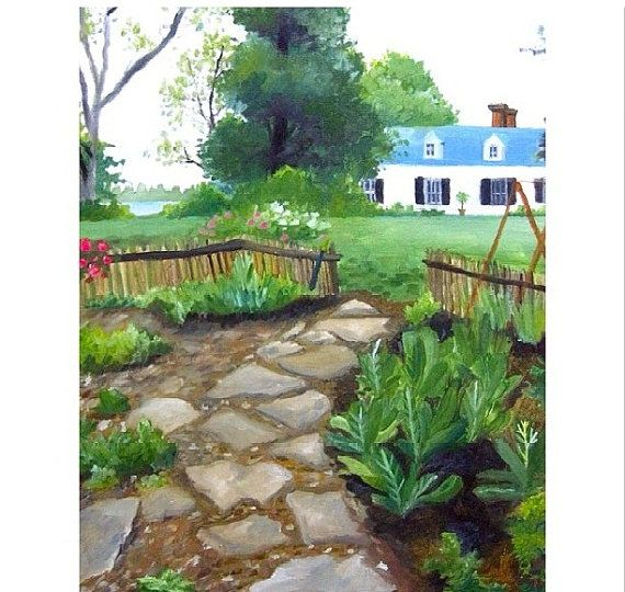 Vegetables Garden tree country home stepping stones by PlartStudio, $80.00