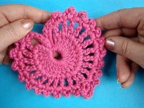Как вязать валентинку Урок 282 How to crochet heart