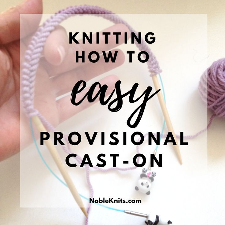 Today I'm going to show you another version of the provisional cast-on.  We'll be using an interchangeable cable. It's an easy provisional cast-on  that works well with a medium to large number of cast-on stitches. It's  called The Invisible Cast-On (aka: Provisional Wrap Cast-On or Open Loop  Cast-On).  This method is neat & tidy, secures the stitches firmly, and makes finding  and picking up the provisional stitches simple.