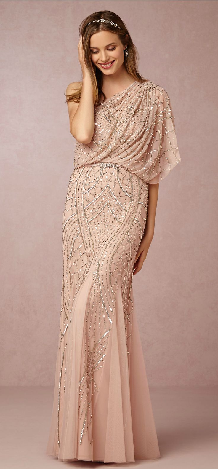 The perfect beaded bridesmaid dress   Abigail from @BHLDN