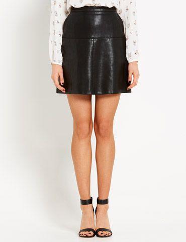 City Slick Pu Mini Skirt