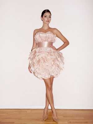 Short Wedding Dresses; Reception Dresses for Brides; Bridal Gowns | Wedding Planning, Ideas & Etiquette | Bridal Guide Magazine    This would be my ideal wedding dress, except it would be lavender in color.