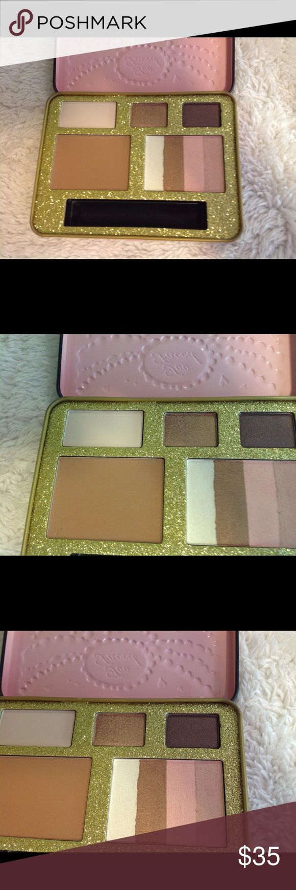 Two Faced Beauty Wishes & Sweet Kisses palette Two Faced Beauty Wishes & Sweet Kisses palette from chocolate bar eye shadow collection. White chocolate, creme brûlée and haute chocolate. Chocolate soleil bronzer and snow bunny bronzer. It's all new but comes without the lip gloss. It comes in pink tin. Two Faced Makeup Eyeshadow