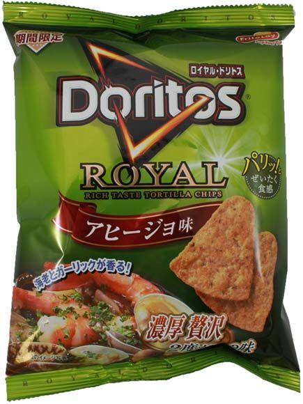 Frito-Lay Royal Doritos Garlic Shrimp Flavor (Ajillo) $1.95 http://thingsfromjapan.net/frito-lay-royal-doritos-garlic-shrimp-flavor-ajillo/ #Japanese snack #Japanese frito lay #Japanese doritos