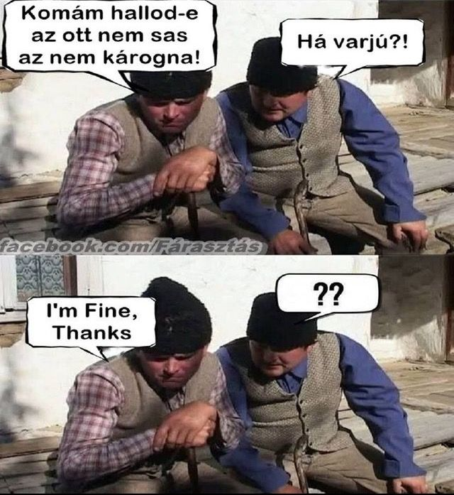 Há varju/How are you?