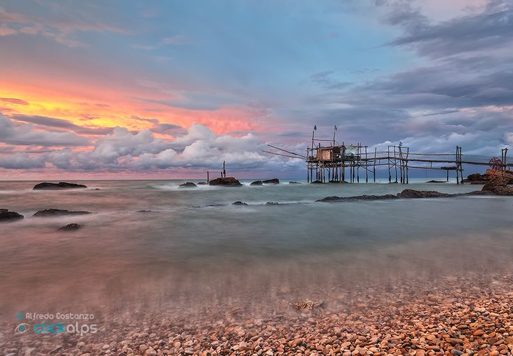 Sunset to Trabocchi coast ~ Italy by Alfredo Costanzo on 500px