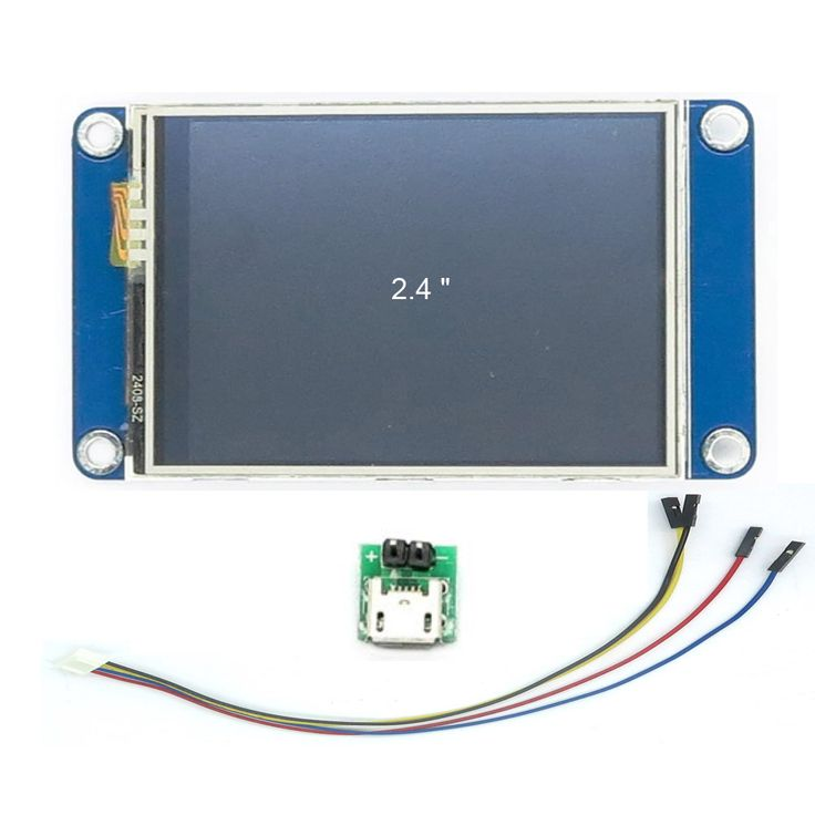DIYmall Nextion 2.4 inch English Version UART LCD Display for Arduino https://www.aliexpress.com/item/2-4-TFT-320-x-240-resistive-touch-screen-display-Nextion-2-4-UART-HMI-Smart/32445344129.html