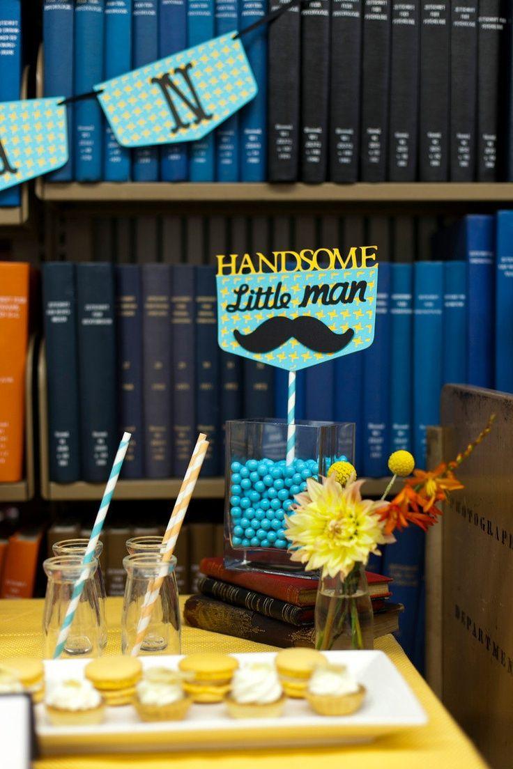 Mustache Bash Centerpiece - Handsome Little Man Photo Booth Prop 1st birthday