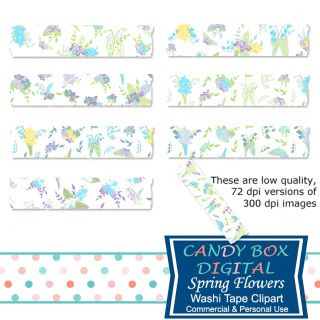 Spring flower washi tape! So pretty for highlighting your wedding or Easter photos! Great for scrapbooks, newsletters, websites, blogs, journals etc...