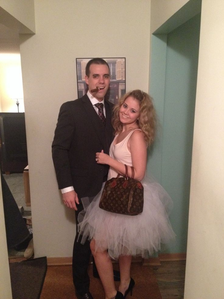 carrie bradshaw and mr big halloween diy best costume idea ever - Good Halloween Costumes For Big Guys