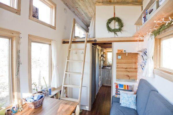Love the large windows. So much light. All I need now is $$$ . diy mortgage free tiny home 009   Alek, Anjali & Anyas Mortgage free DIY Tiny Home on Wheels