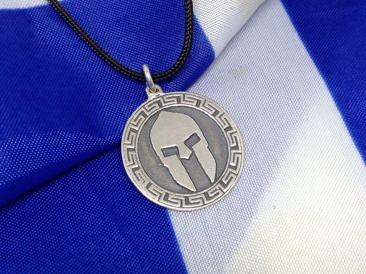 Silver handmade pendant, Spartan helmet pendant, Unique Sterling Silver Pendant Of Leonidas Of Sparta, Ancient Silver Greek Helmet, Sparta http://etsy.me/2EqHqe7 #jewelry #necklace #silver #birthday #greece #sparta #patrioticflags #independenceday #minimalist #leonidas