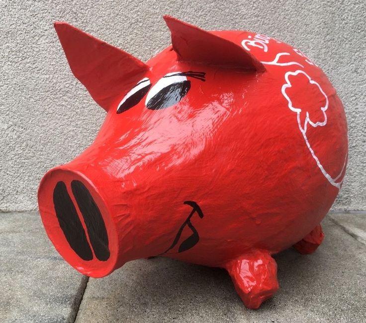 Sparschwein XXL 50. Geburtstag Geschenk Geldgeschenk Briefbox Kartenbox Schwein