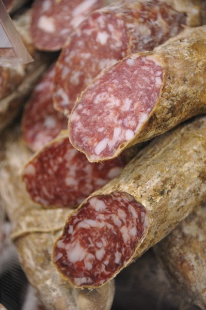 Italian Salami loved when Mom got off the plane  in Columbia with 3 Salami's for each of the boys.