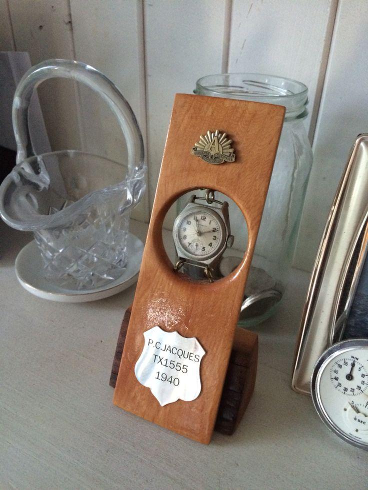 Huon pine ww2 watch display