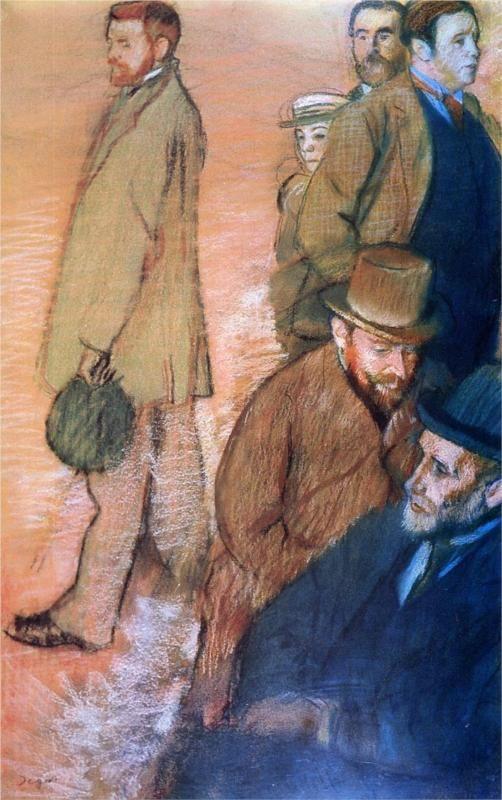 Six Friends of the Artist, 1885 Edgar Degas