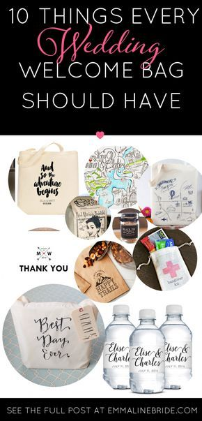 If you're making welcome bags for your out-of-town guests, you need to read this! It explains what you need, why you should consider welcome bags, and a few cute finds to include. #wedding #destinationwedding #weddingtips | http://emmalinebride.com/planning/wedding-welcome-bags/