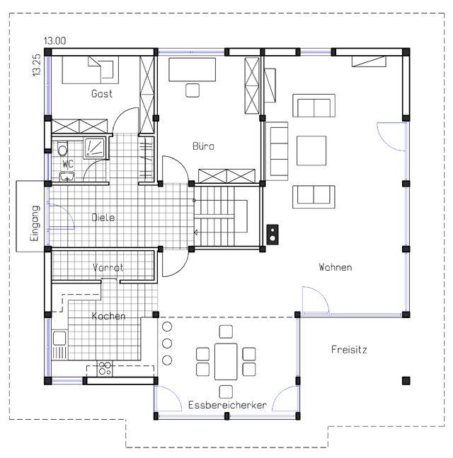 Kd 244 Bild 6899 Haus Bauplan Haus Haus Grundriss
