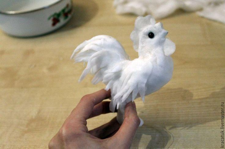 Петушок на елку. Мастерим ватную игрушку своими руками - Ярмарка Мастеров - ручная работа, handmade