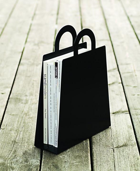 Malin Lundmark, magazine bag rack, Scandi