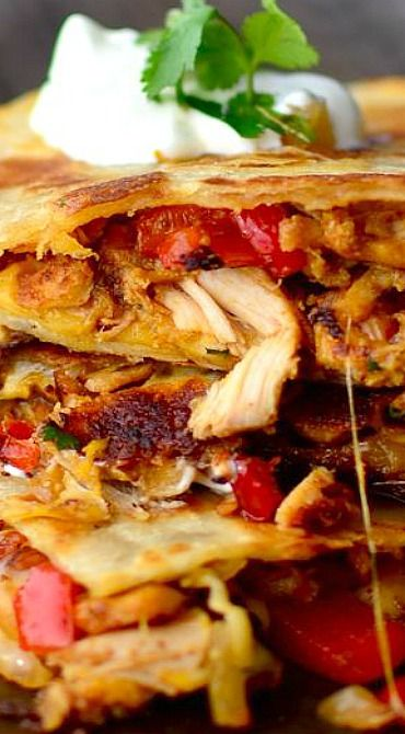 Quick and Easy Basic Chicken Quesadillas