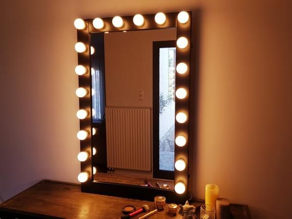 Xxl Vanity Mirror 27x43 Hollywood Makeup Etsy With Lights