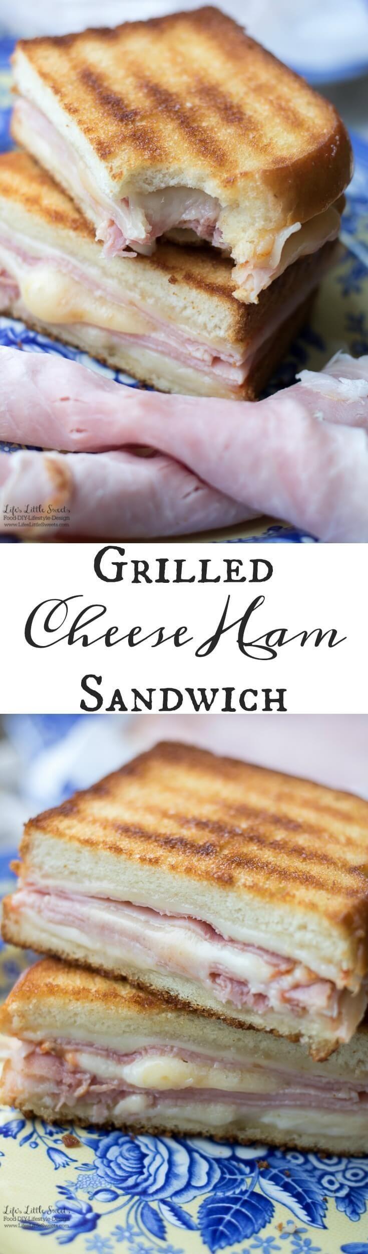 This Grilled Cheese Ham Sandwich has 2 kinds of cheese, Eckrich Virginia Brand Ham and sliced bread. #AskForEckrich #EckrichFlavor #CollectiveBias #ad @SoFabFood @Walmart
