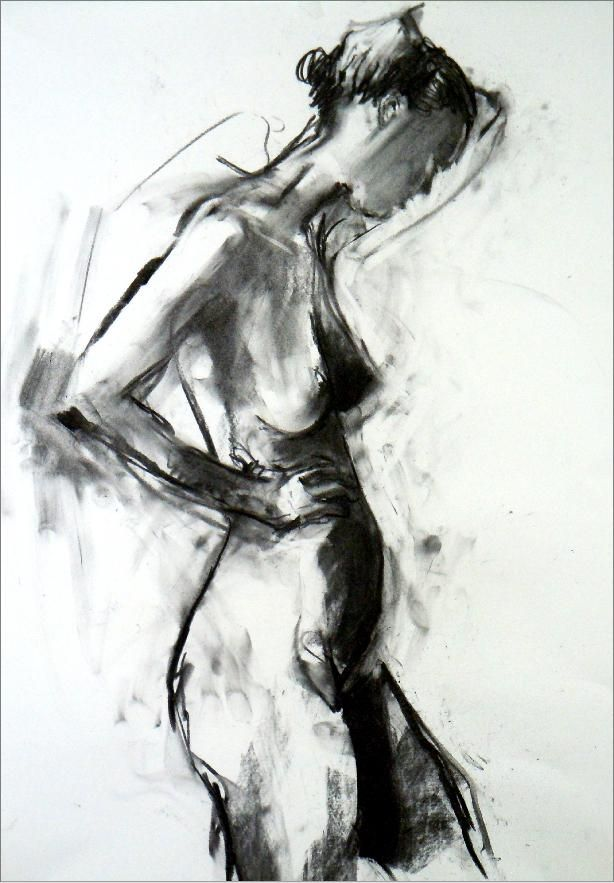 Life drawing - Richard Knight, really nice use of tones. Composition is well thought out too.