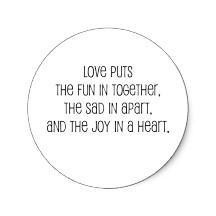 Sad in apart … joy in a heart … <3