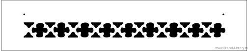 Бордюр 327 - Трафареты для декора :: Средневековье - изготовление трафаретов для декора стен и любых других поверхностей за…