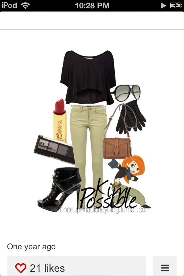 Disney inspired outfit- Kim Possible