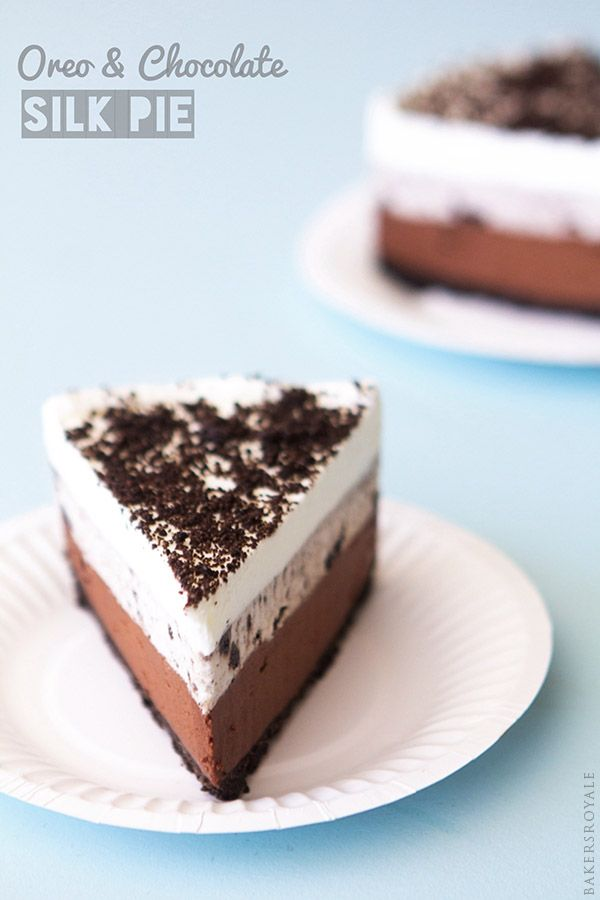 Oreo and Chocolate Silk Pie