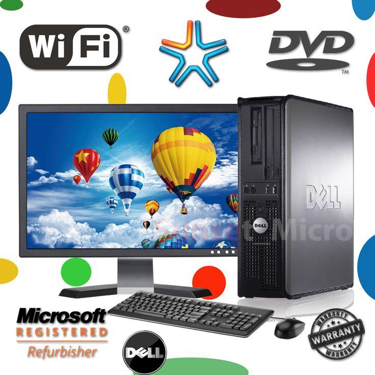 !!!SALE!!!SALE!!! Fast Dell Desktop Computer PC Core 2 Duo WINDOWS 7 | 10 | LCD