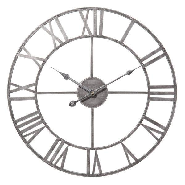 Horloge en métal D 45 cm ZINC