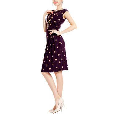 Just bought this spotty purple dress! love, love!