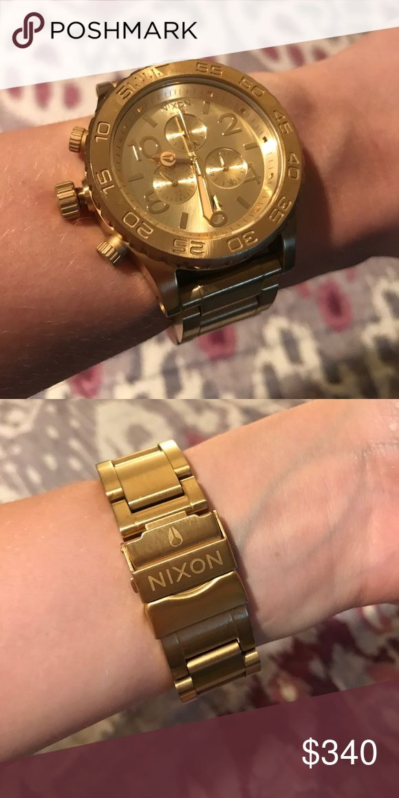 Nixon 42-20 Chrono gold stainless steel watch Heavy duty Nixon women's watch. Nixon Accessories Watches