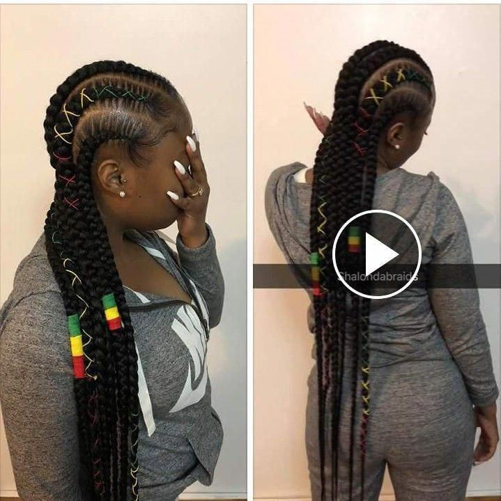 braid hairstyles african american For Black Ladies #ghanabraids #feedinBraided