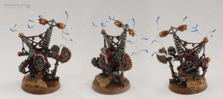 Big Mek Buzdak Mechanic Forcefield Generator Ork Blood Axe Clan Warhammer 40K