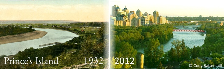 Princes Island in 1932 and 2012