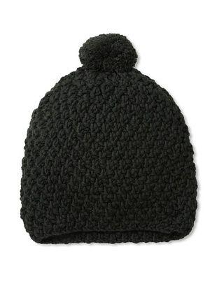 Hat Attack Women's Honeycomb Stitch Slouchy Hat, Black