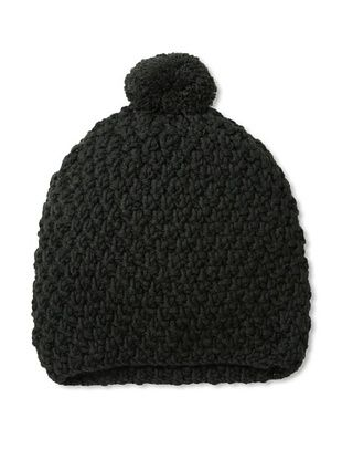 Hat Attack Women's Honeycomb Stitch Slouchy Hat, Black