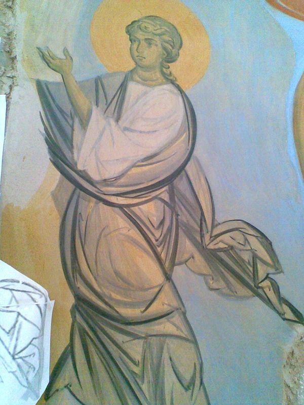 В процессе работы fresco in process ( secco) by Daineko ( Minsk, Belarus) , to see more check please http://ikona-skiniya.com/index.php/ru/2011-12-19-14-27-20/itemlist/category/14-hram-odin?start=30