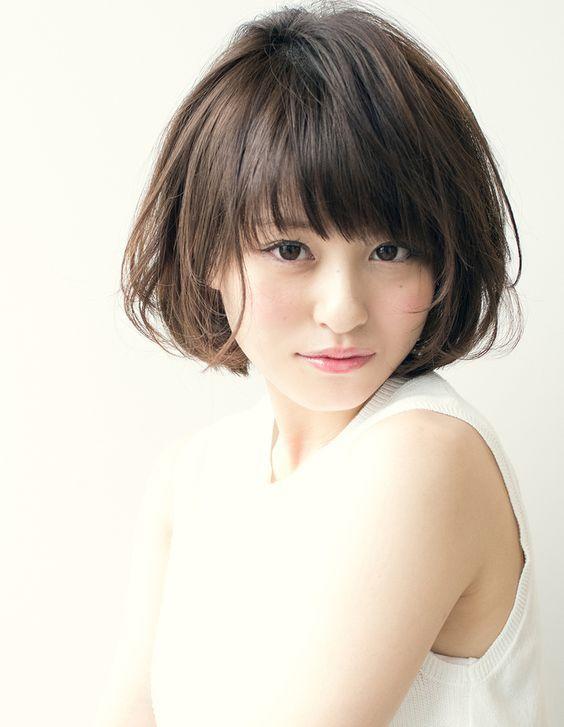 ショートボブパーマでニュアンス《TA−162》   ヘアカタログ・髪型・ヘアスタイル AFLOAT(アフロート)表参道・銀座・名古屋の美容室・美容院: