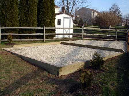 Foundation for Shed Base Gravel