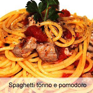 Ricetta spaghetti al tonno fresco e pomodori maturi